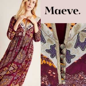 MAEVE EMBROIDERED MAXI DRESS **NWT**